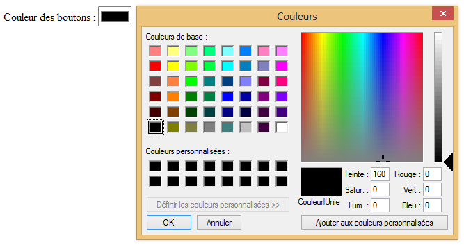 Input type='color'